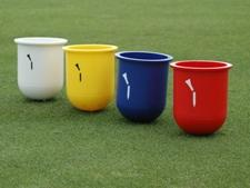 Plastic broken tee caddies