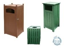 Square trash containers