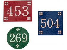 Aluminum numbered t-markers