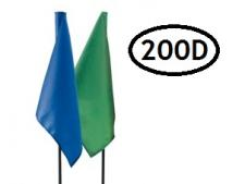 Tube-lock plain nylon flags (sets)