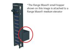 Elevator hopper SMALL <br>storage capacity ± 300 balls