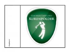 Putting green flag customized<br>with full-colour printing