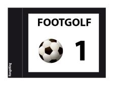 Footgolf flags tube-lock 2-sided<br>complete set numbered 1-9