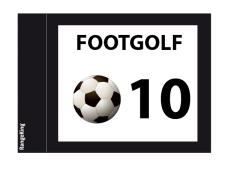 Footgolf flags tube-lock 2-sided<br>complete set numbered 10-18