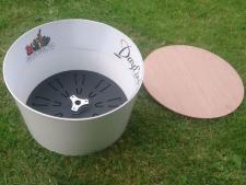 Footgolf cup without cover<br>plastic bottom/steel wall