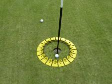 Quiccup® large 15 inch - yellow<br>www.Quiccup.com | Big Holes Golf