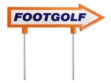 Footgolf direction arrow<br>28cm orange