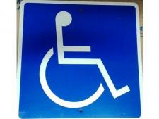 Aluminum info sign 30x30 cm - (disabled)<br>