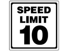 Aluminum info sign 30x30 cm <br>SPEED LIMIT 10