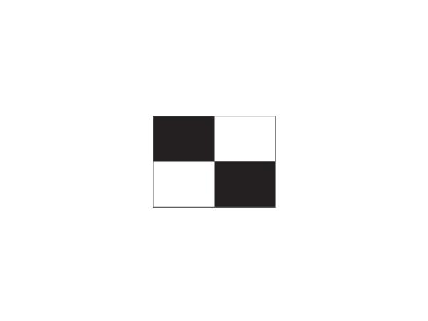 Checkered Pr.green flag Ø 1.3cm<br>Black/white (1 pc)
