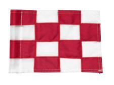 Checkered Pr.green flag Ø 1.0cm<br>Red/white (1 pc) - Anco