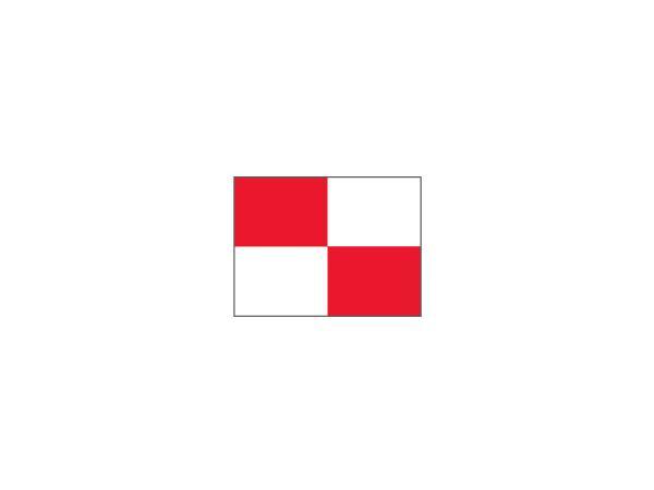 Checkered Pr.green flag Ø 1.3cm<br>Red/White (1 pc)
