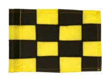 Checkered Pr.green flag Ø 1.0cm<br>Black/yellow (1 pc)
