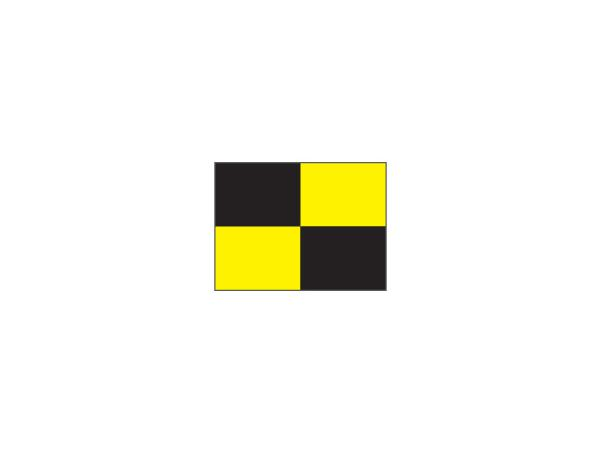 Checkered Pr.green flag Ø 1.3cm<br>Black/yellow (1 pc)
