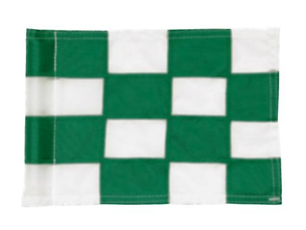 Checkered Pr.green flag Ø 1.0cm<br>Green/white (1 pc)