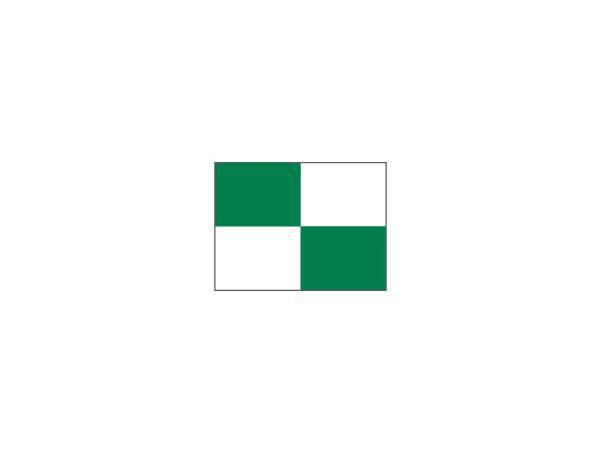 Checkered Pr.green flag Ø 1.3cm<br>Green/white (1 pc)