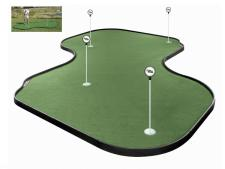 Tour Links putting green<br>26-panel 369 x 369 cm