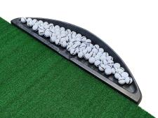 Wing shaped ball tray<br>