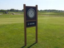 Woodsign Brighton clock 290 cm high<br>with sponsor panel